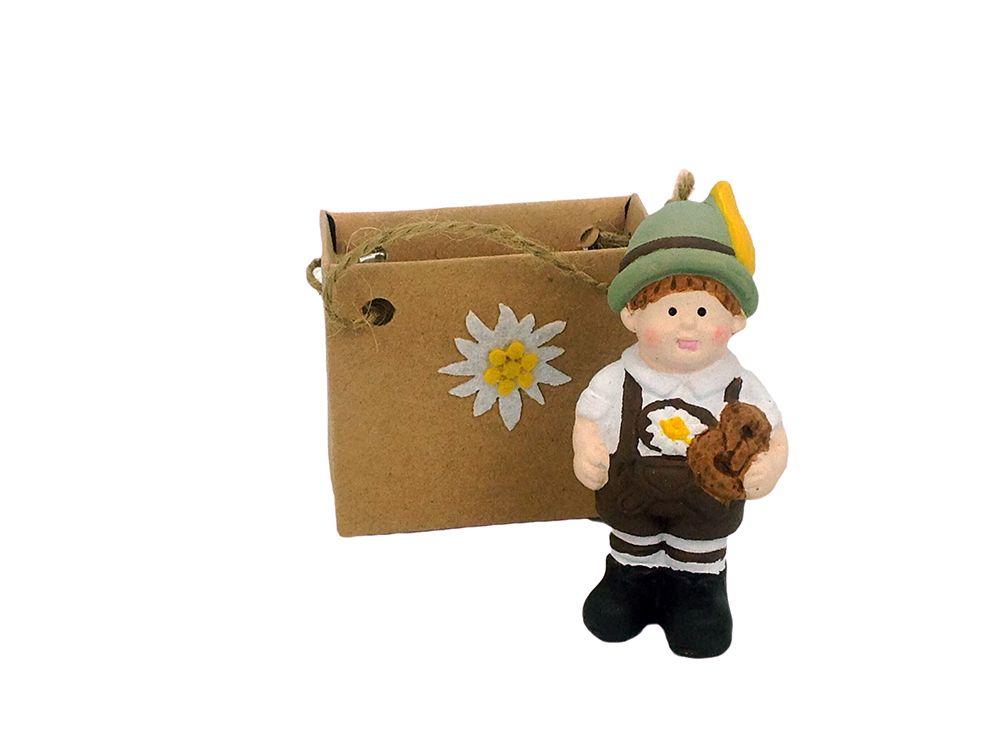 Ceramic Ornamental Mini: German Boy : German Gift Outlet, Affordable German Gifts, German Beer Steins, Oktoberfest Supplies