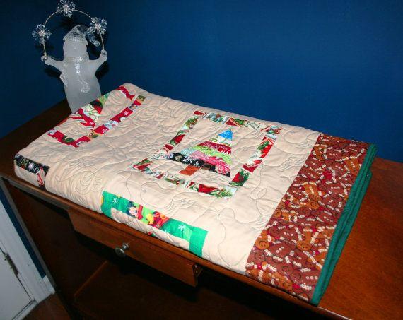 Christmas QuiltTreeLightful by peachga11 on Etsy, $160.00