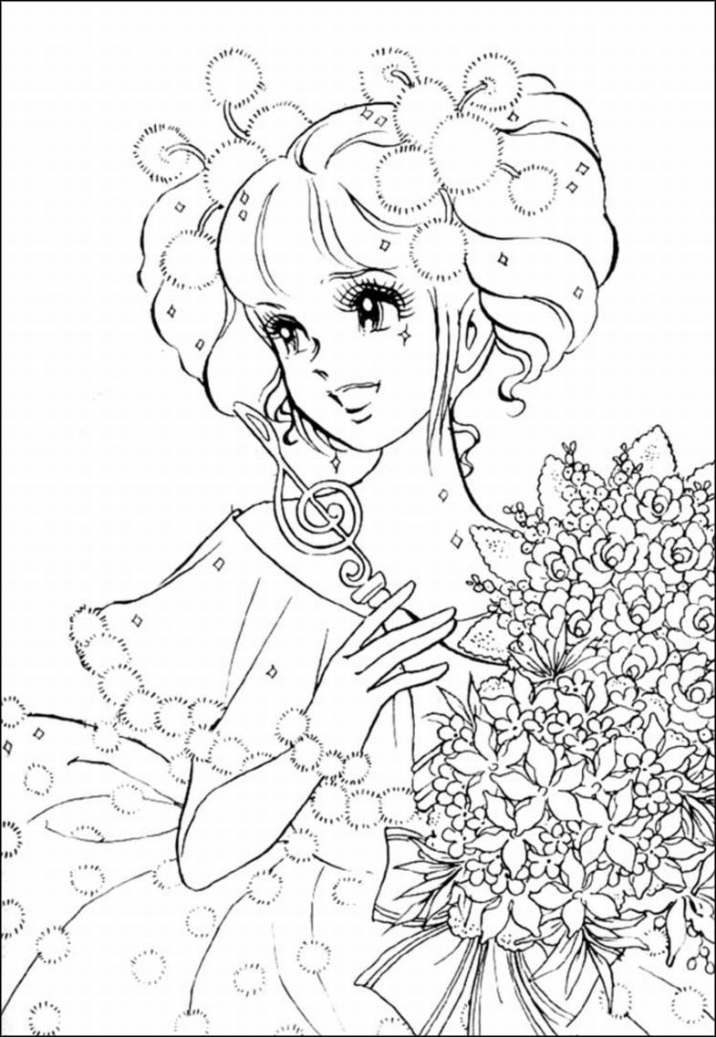 girl coloring pages anime girl - Tangled Coloring Pages Girls