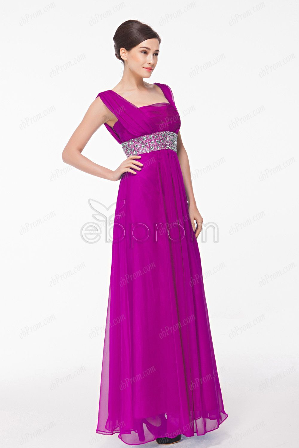 096b466cbc58 Square Neck Straps Fuchsia Chiffon Mother of the Bride Dresses Plus Size!  Low Cut Jeans