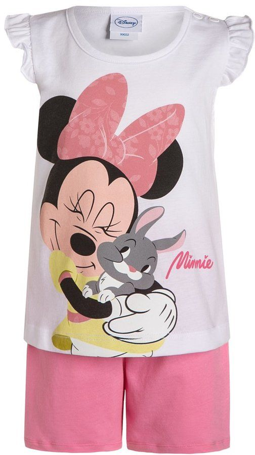 GIRLS 2 PIECE SET OUTFIT SHORTS /& T-SHIRT DISNEY MINNIE MOUSE 1-8 YEARS
