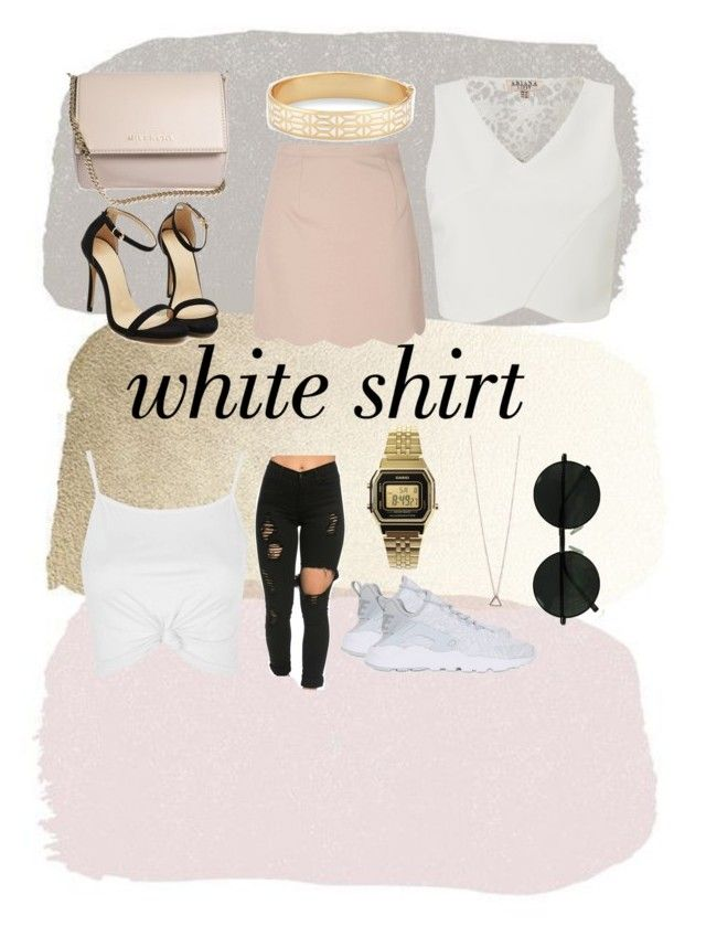 """#Whiteshirt"" by josi-burke on Polyvore featuring Topshop, Givenchy, NIKE, Casio, Lipsy, Glamorous, Stella & Dot and WardrobeStaples"