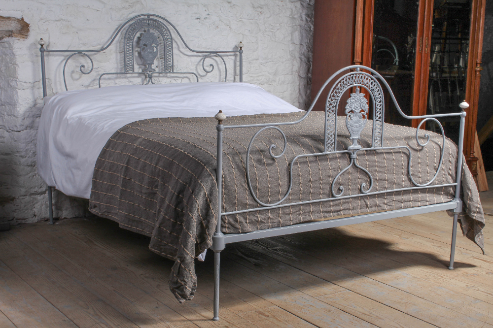 Very Pretty Portuguese King Size Iron Bed c.1900