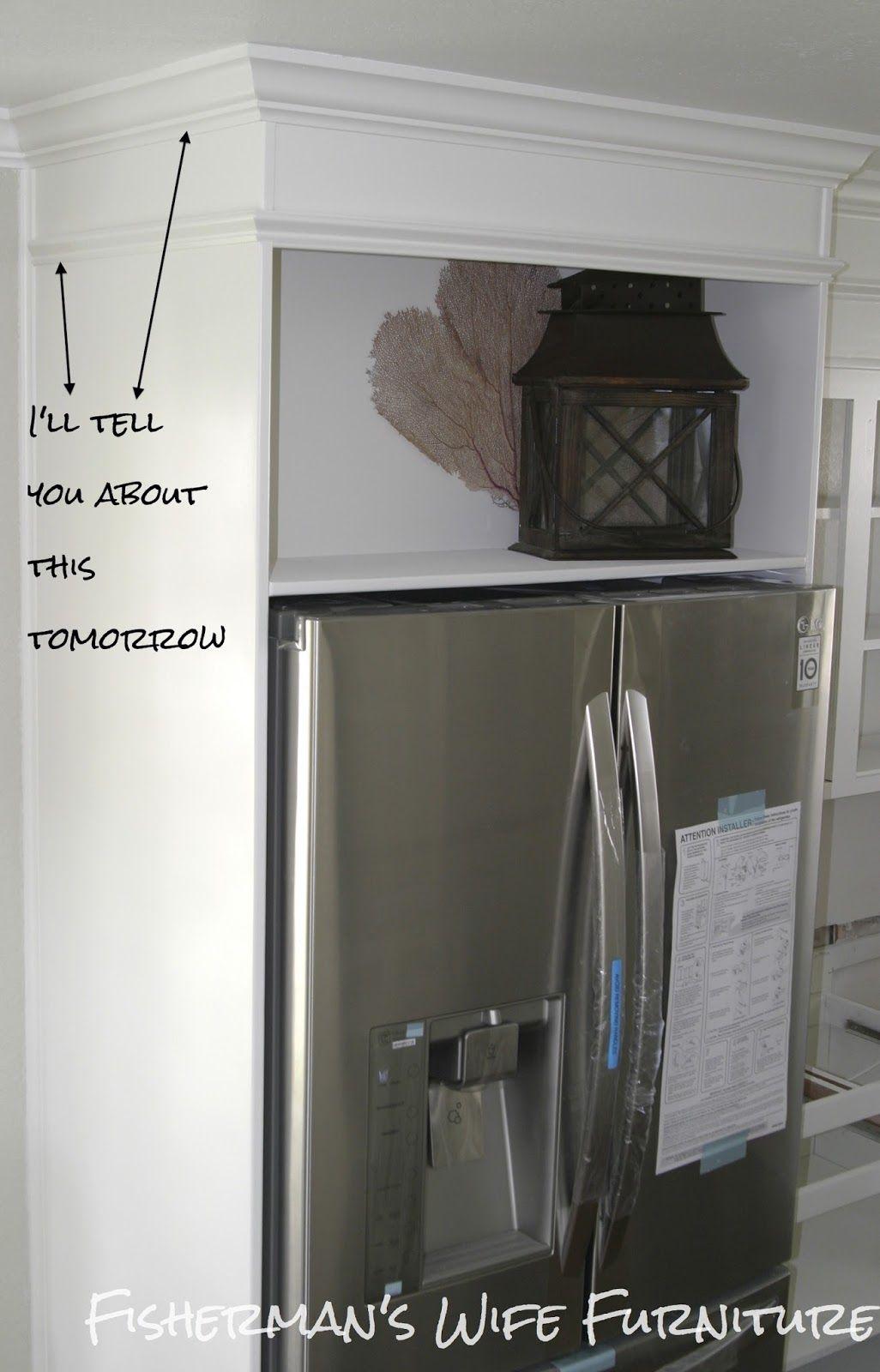 DIY Refrigerator Enclosure - How to build a cabinet around ...