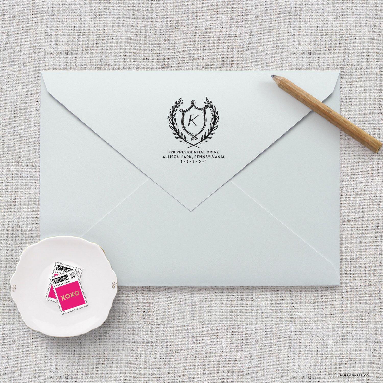 Self Inking Return Address Stamp / Wedding Invitation Stamp, Save ...