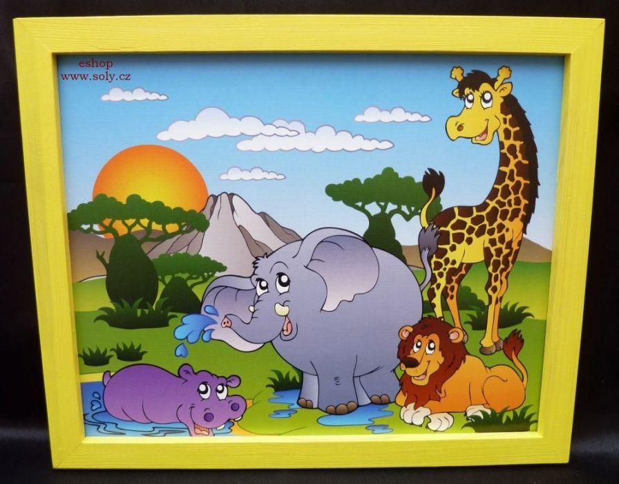 Kreslene Detske Obrazky Hroch Zirafa Lev Slon 249 Kc Eshop Www