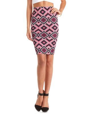 64b240e53 tribal print bodycon midi skirt Bodycon Midi Skirt, Tribal Prints, Charlotte  Russe, Dress