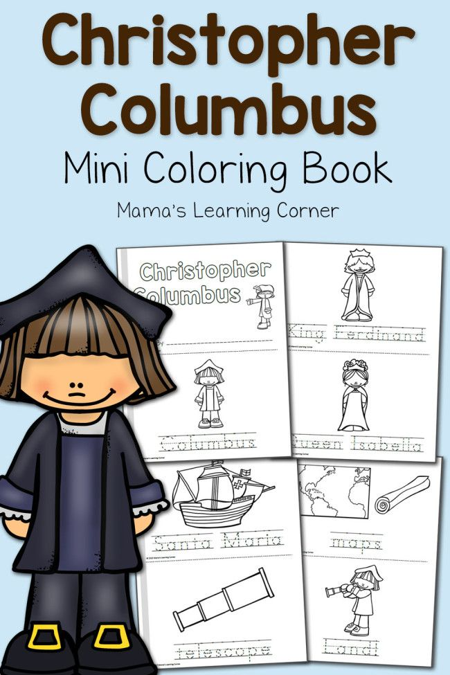 Free Christopher Columbus Coloring Pages School Pinterest