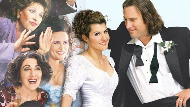 17 Movies You Watch With Your Mom And Secretly Enjoy Wedding Movies Greek Wedding Movie Wedding Dresses