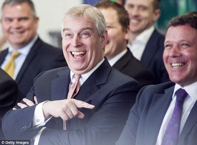 Relieved: The Duke of York made his first public appearance since sex claims against him w...