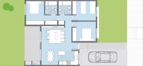 Plano Casa Sauco Procrear 3 Dormitorios Planos De Casa