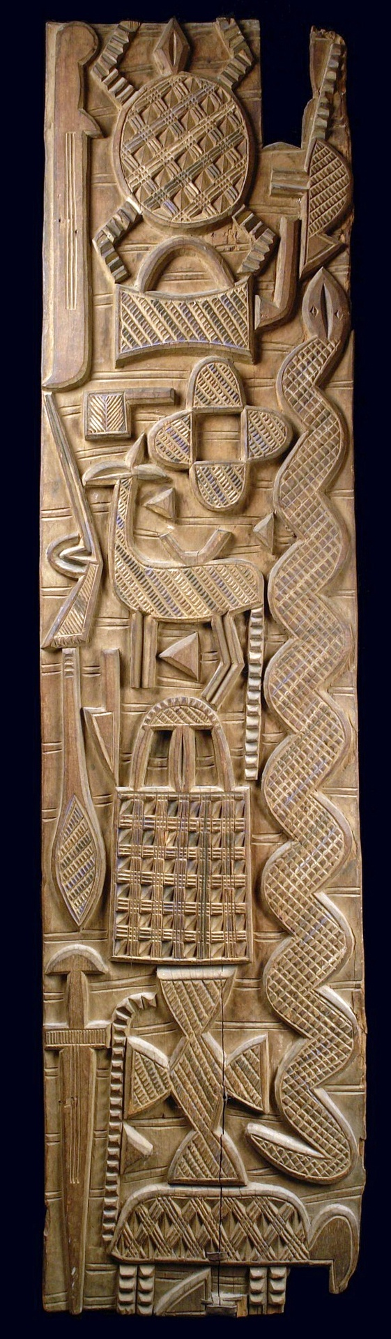 Africa door panel from the nupe people of nigeria wood with a