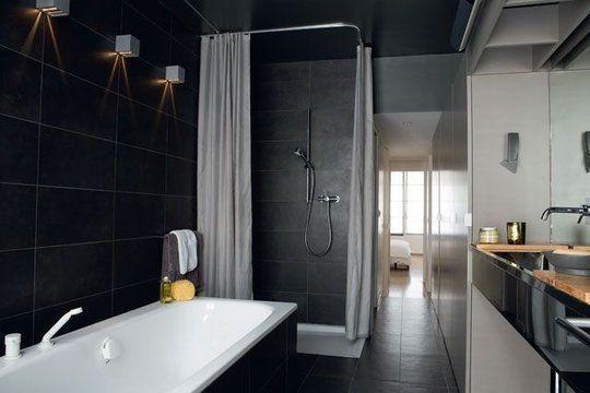 déco salle de bain grise salles de bains Pinterest Salons