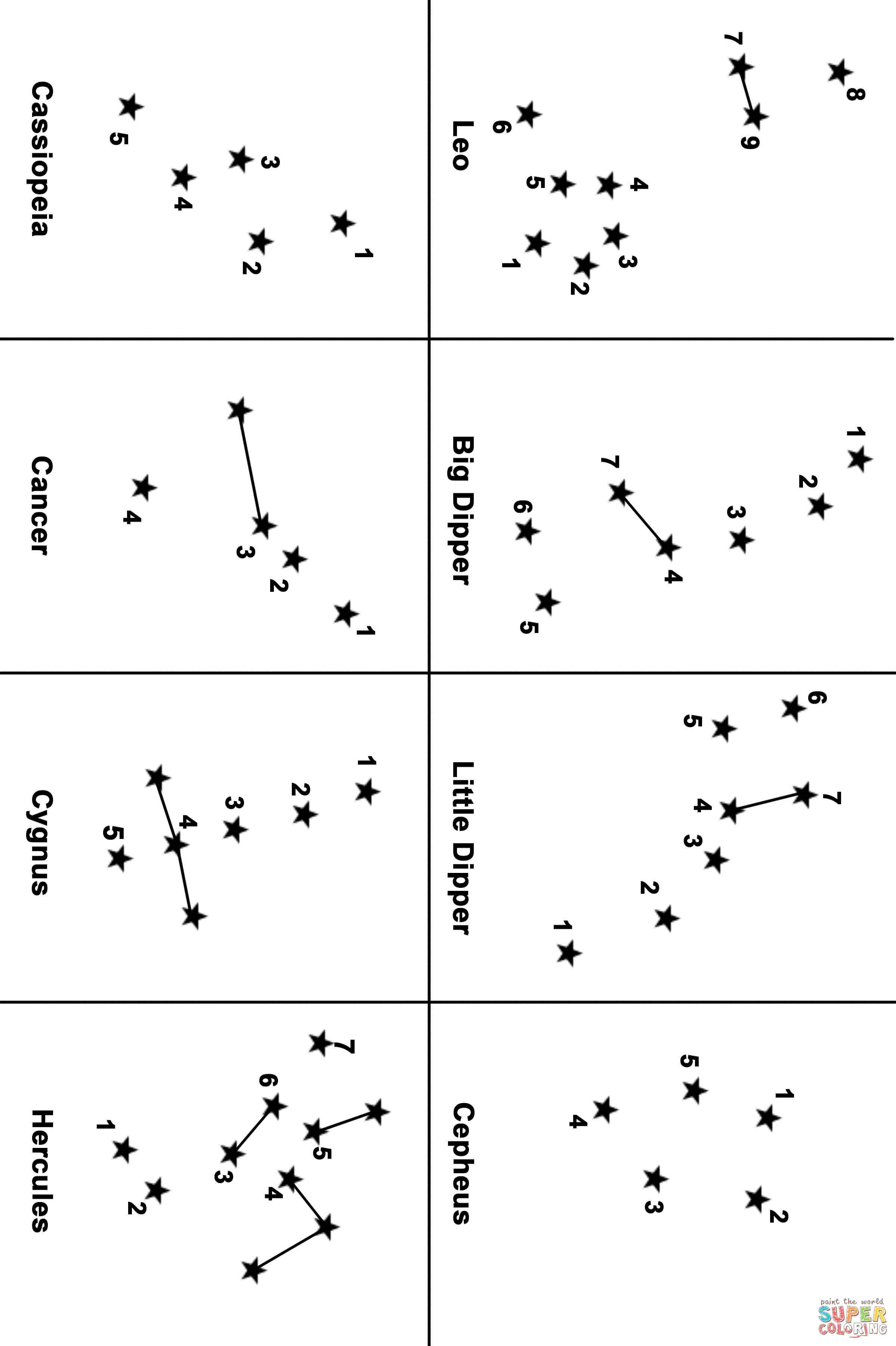Constellation Map Dot To Dot From Space Category Select