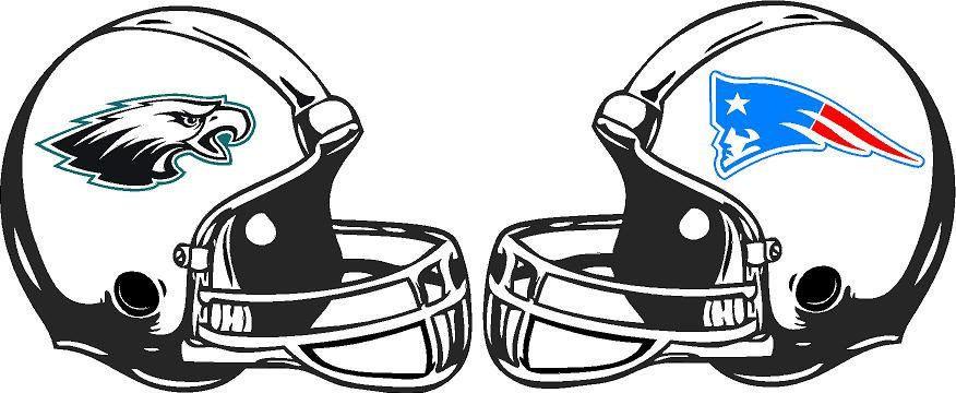 New England Patriots vs Philadelphia Eagles Vinyl Decals