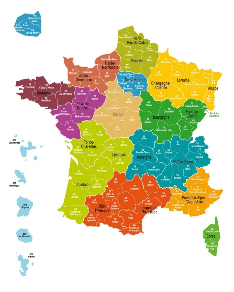 La carte d finitive des 13 r gions de france adopt e l for B b carte france