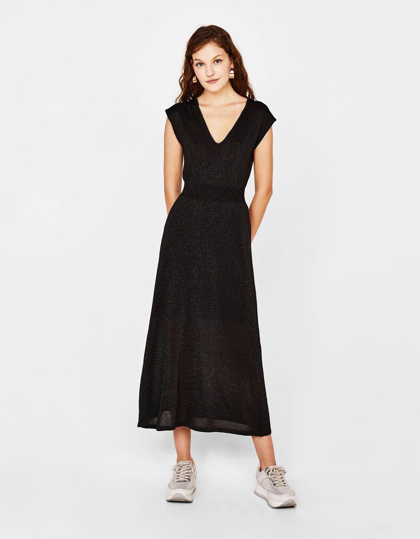 langes kleid aus laméfäden | dresses, long dress, little