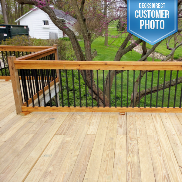 Deck Baluster Image Gallery Square Balusters Decksdirect Deck Balusters Deck House Exterior