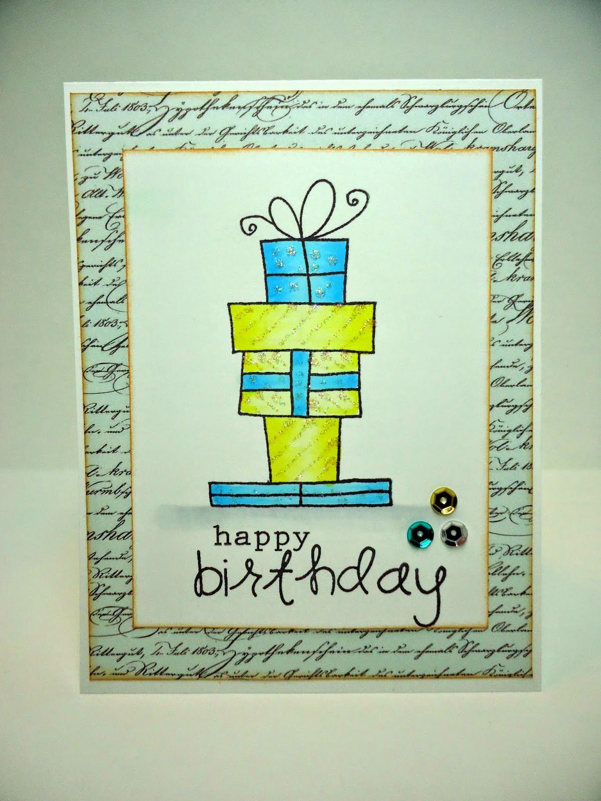 Wrapped Packages Birthday Card