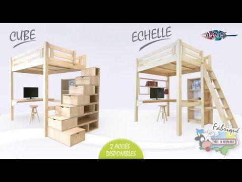 Escalier cube mezzanine elegant lit mezzanine escalier mezzanine lit mezzanine lit mezzanine - Comment rehausser un lit ...