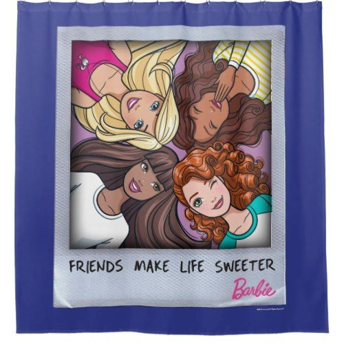 Barbie Friends Make Life Sweeter Shower Curtain | Shower Curtains ...