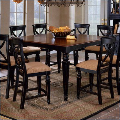 Hillsdale Northern Heights Counter Height Dining Table in Black and