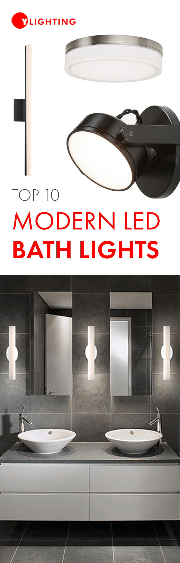 Top 10 Modern Led Bath Lights Bathroom Lighting Design Modern Bathroom Lighting Bathroom Lighting