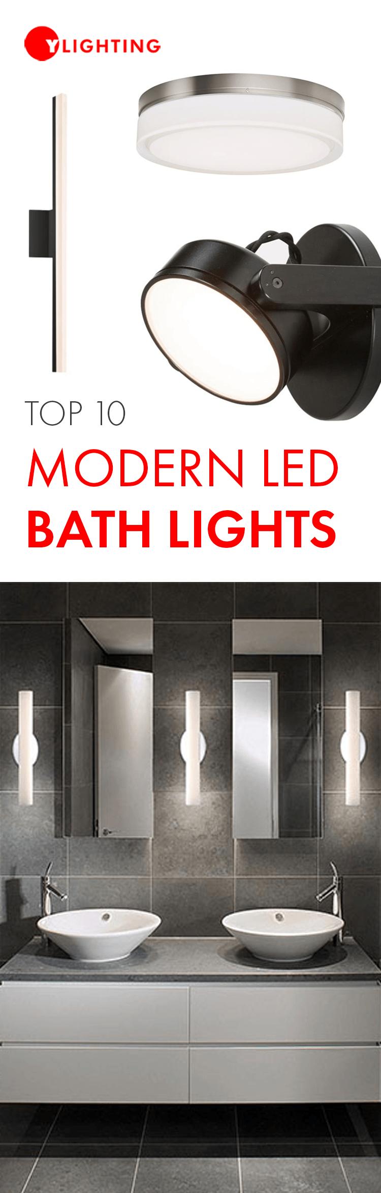 Top 10 Modern Led Bath Lights Modern Bathroom Lighting Bathroom Lighting Design Modern Bathroom Light Fixtures