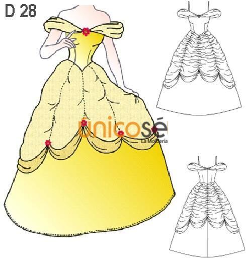 disfraz princesa de cuento la bella y la bestia