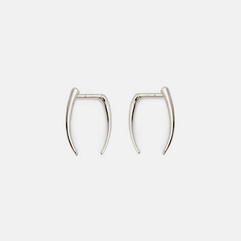 Gabriela Artigas — Infinite Tusk Earrings   14 K White Gold — THE LINE