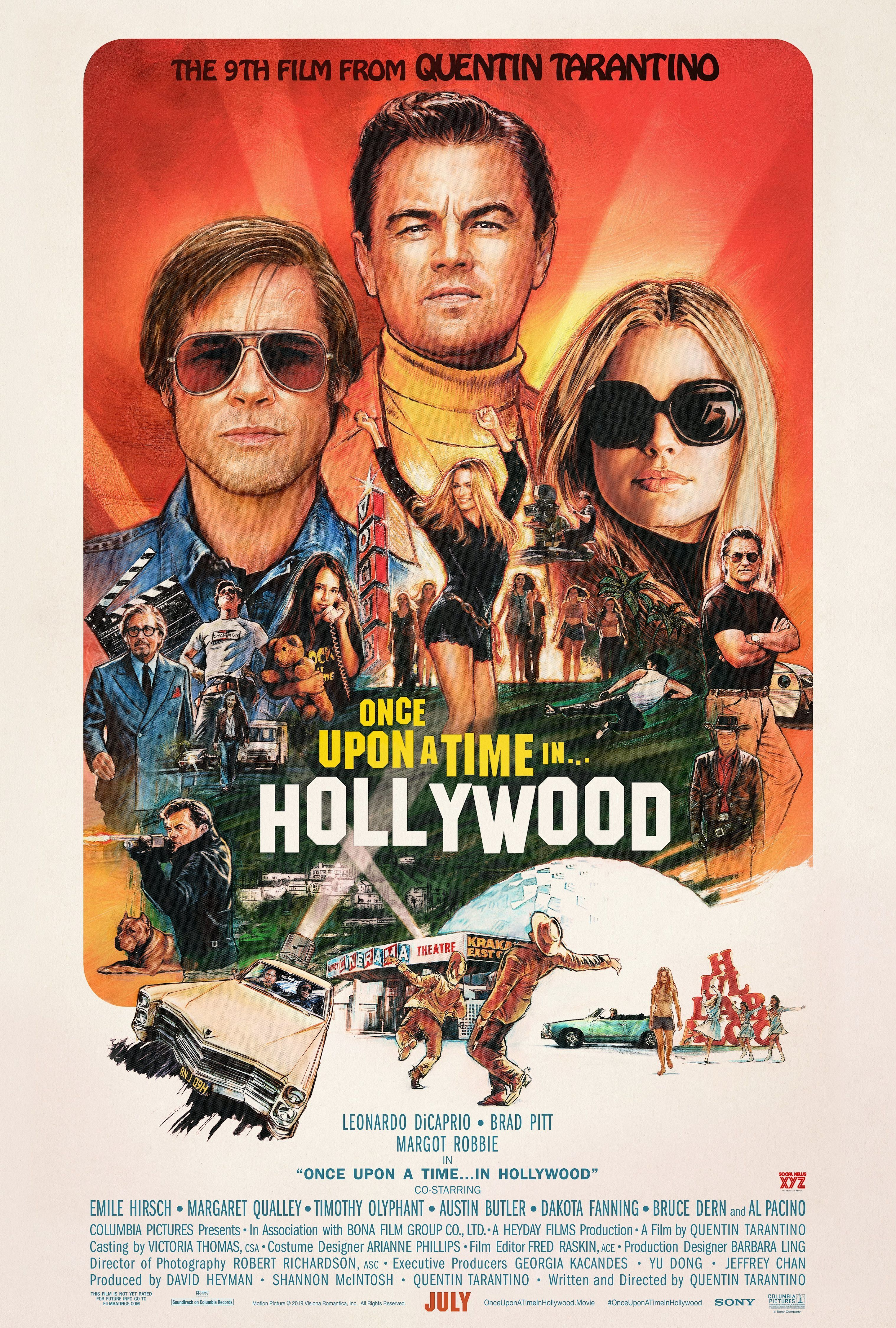 Once Upon A Time In Hollywood Movie Montage HD Poster