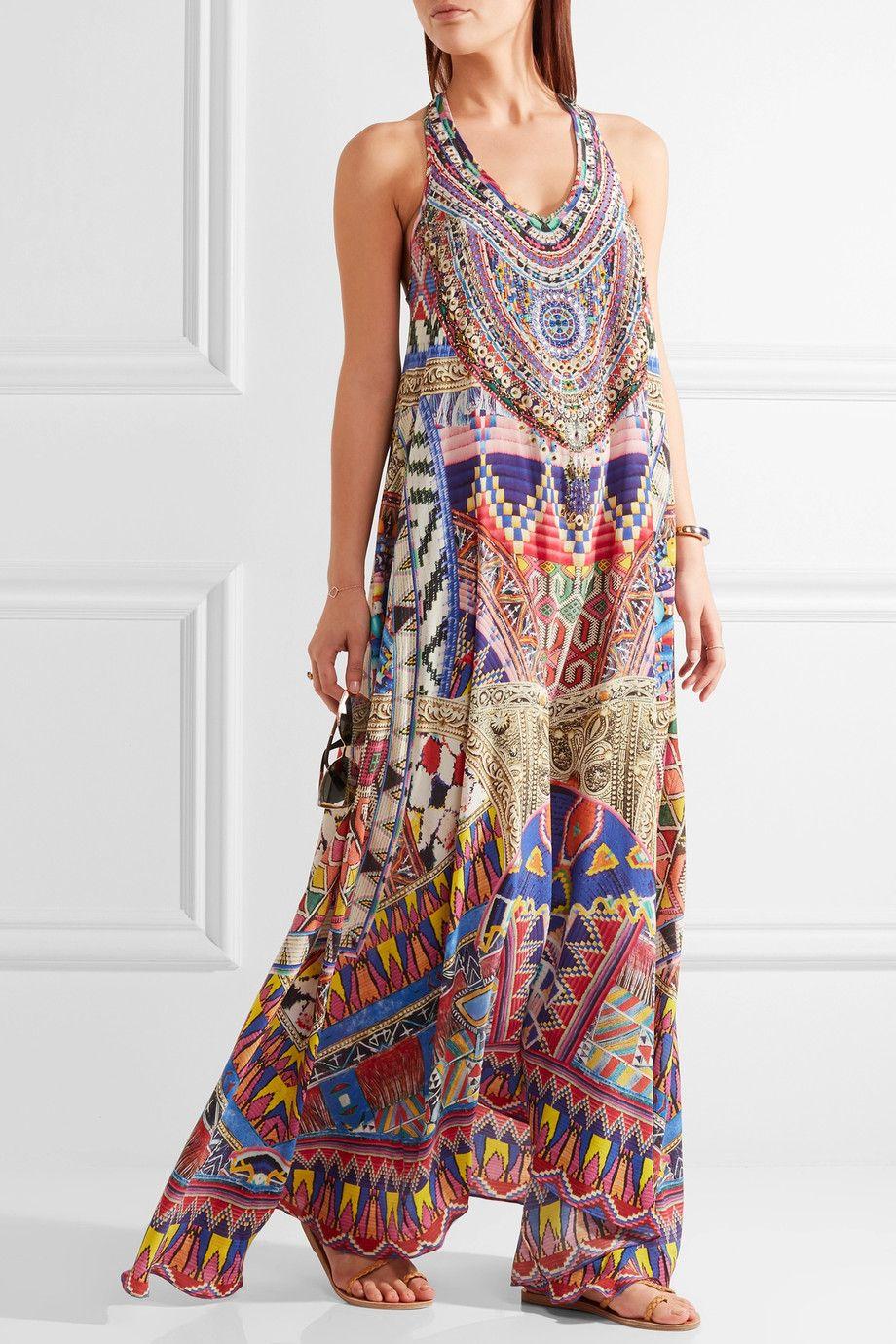 581de623d161 Camilla | Embellished printed silk crepe de chine maxi dress |  NET-A-PORTER.COM