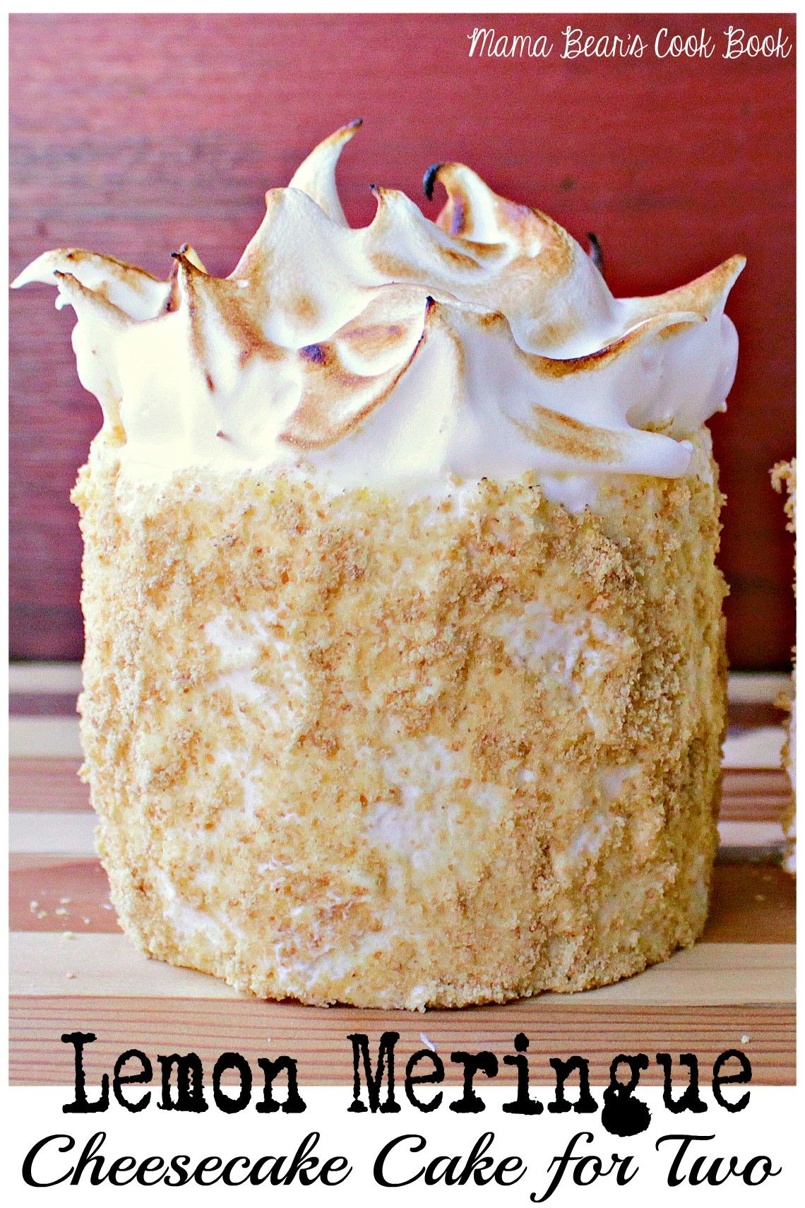 Lemon Meringue Cheesecake Cake for Two #lemonmeringuecheesecake