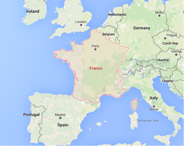 Map Of France Facts.Interesting Facts About France Note That France Resembles The Shape
