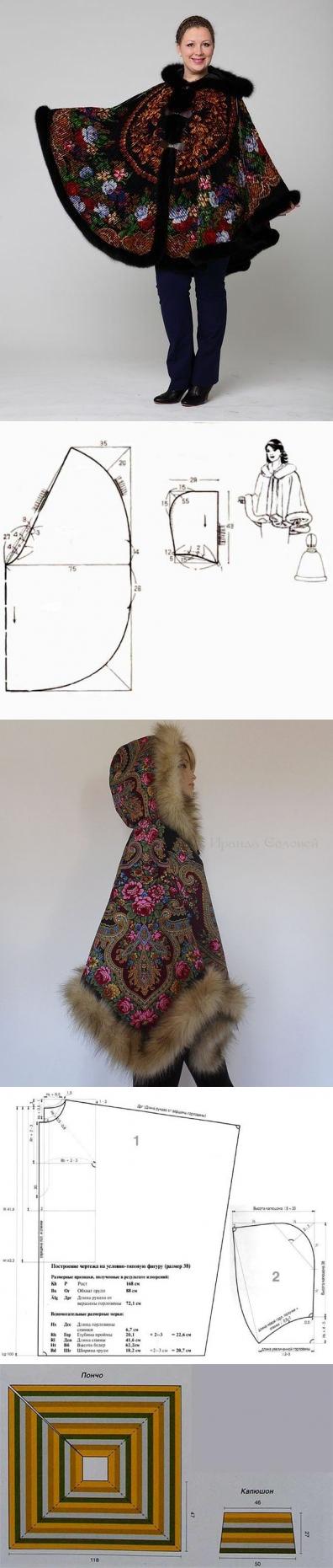 La costura ✂ los Patrones. El poncho siempre en la moda   patrones ...