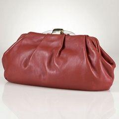 Lauren By Ralph Lauren/ Algonquin Leather Clutch