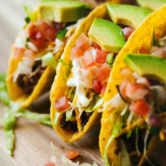 Ground Beef Taco Recip (foodgawker) #groundbeeftacos