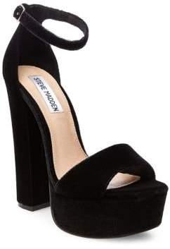 abeef6b4dfd Steve Madden Gonzo Velvet Dress Sandals