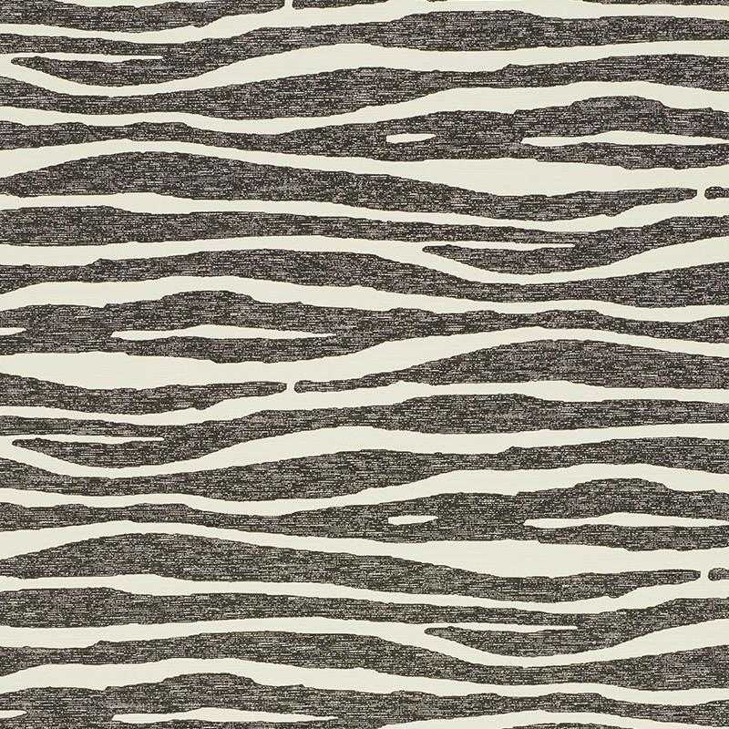 FSchumacher Wallpaper 5008601 Ripple Vinyl Black & Ivory