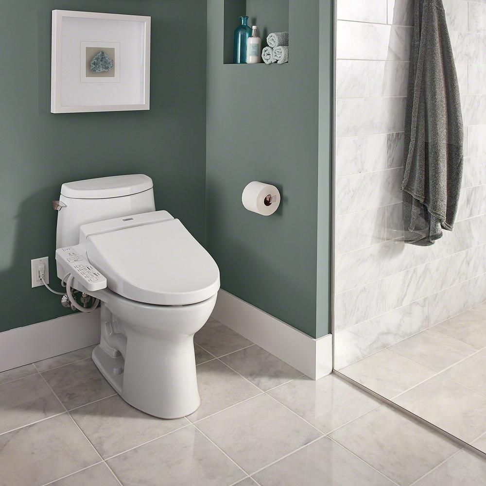 Open Box The Toto Washlet C100 Elongated Bidet Toilet Seat With