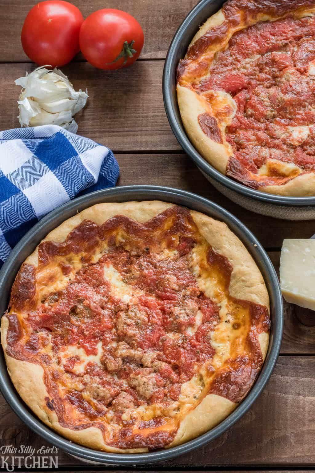 Deep Dish Pizza Recipe Deep Dish Recipes
