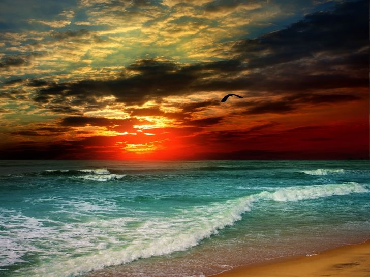 Beach Sea Seascapes 5000x3752 Wallpaper High Quality Wallpapers High Definition Wallpapers Scenic Photos Scenic Sunset Wallpaper