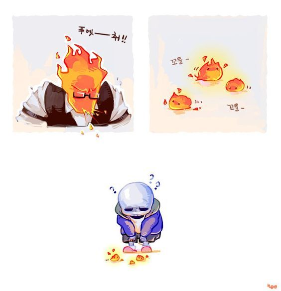 How baby Grillby's are born...?