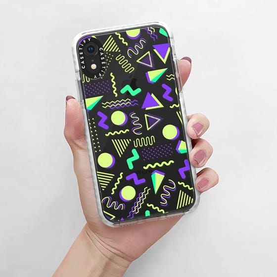 0b8f7d6174 Casetify Impact iPhone XR Case - Lime green purple geometrical retro 80's  modern pattern by Pink Water | cute clear art design lifestyle ootd  protective ...