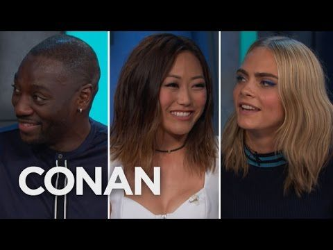 "Adewale Akinnuoye-Agbaje Got His Ass Kicked By The ""Suicide Squad"" Ladies  - CONAN on TBS - YouTube"