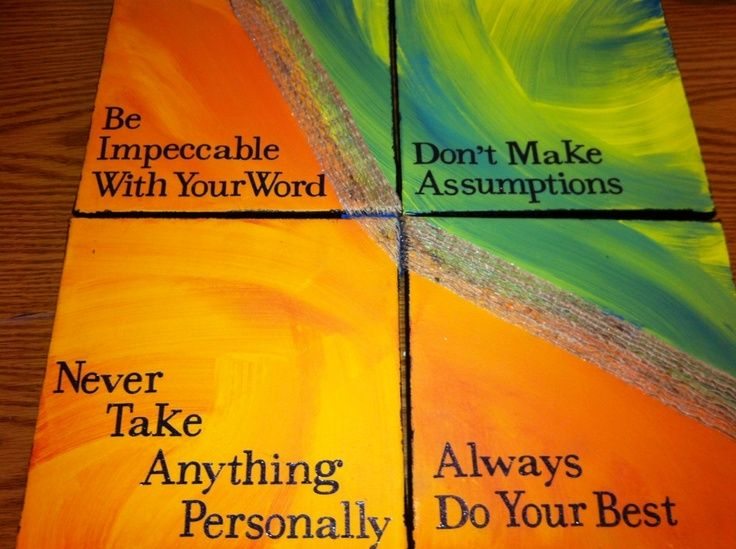 four agreements essay To the perfectionists out there (including me), i want to read a passage from the book that i think is essential in order to live the four agreements: you don't need to judge yourself , feel guilty, or punish yourself if you cannot keep these agreements.