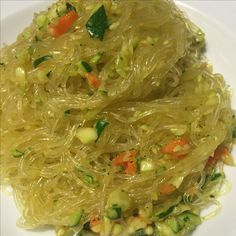 SPAGHETTI DI SOIA CON VERDURE E CURRY  SOY VERMICELLI WITH VEGETABLES & CURRY