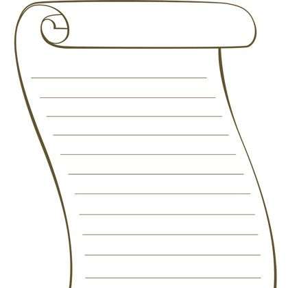 Printable blank scroll template pinteres for Scroll outline template