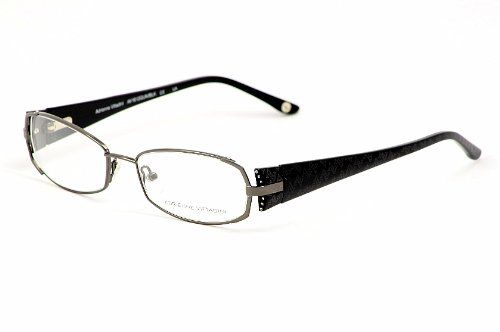 Adrienne Vittadini Eyeglasses Av1012 Gunmetal/black Optical Frame
