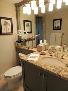 Banjo Top Bathroom Counter Over Toilet Guest Bathroom Design